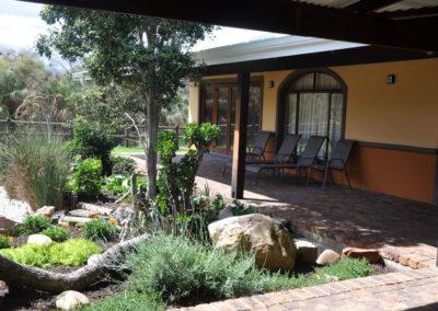 Undercover patio in The Homestead at Tenikwa Nature Lodge