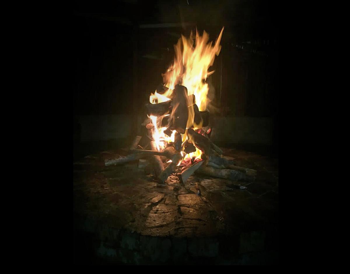 fire at the boma at Tenikwa Nature Lodge