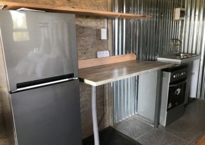 Kitchen inside Lion Cabins at Tenikwa